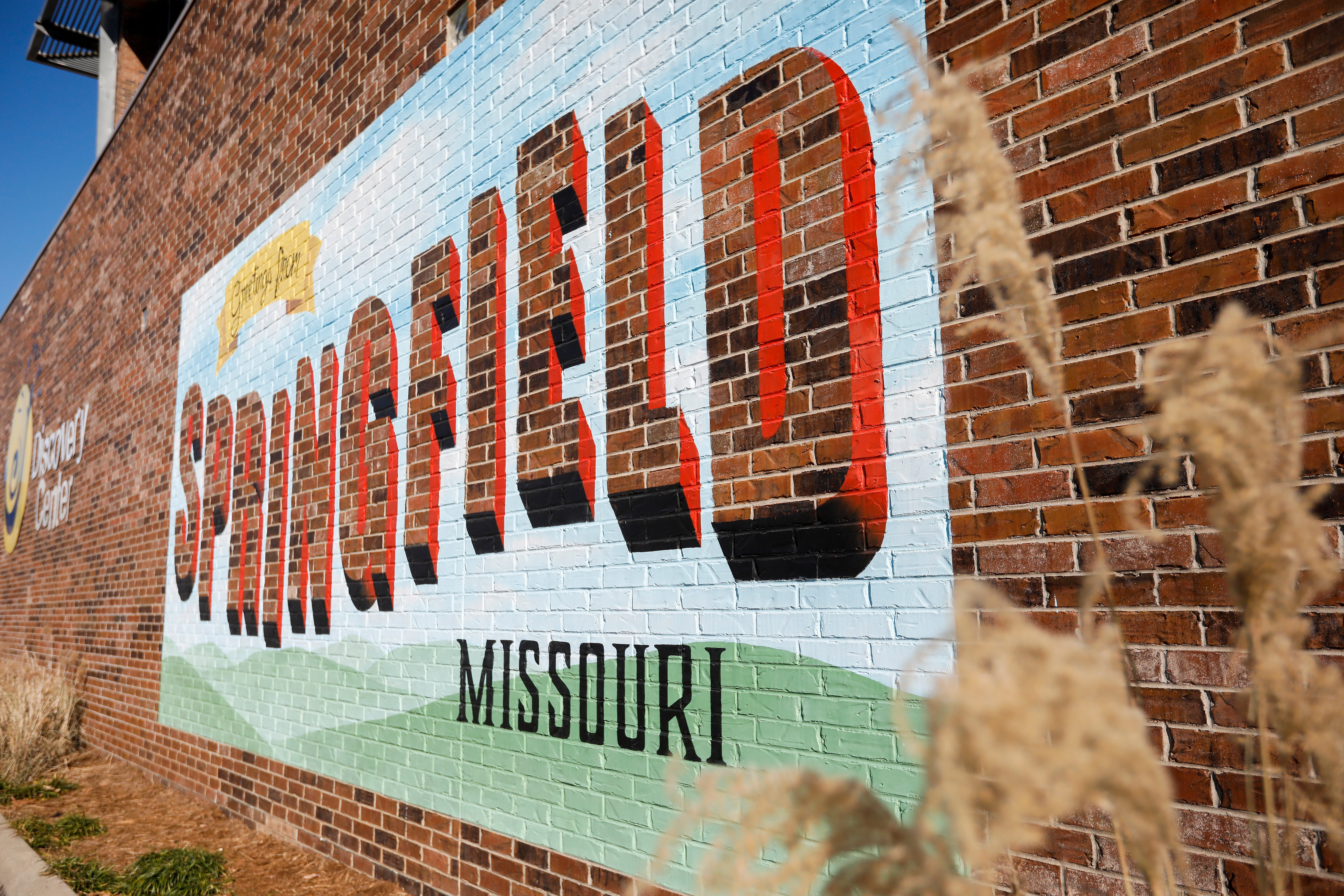 """The """"Greeting from Springfield, Missouri"""" mural is located on the side of the Discovery Center building at 438 E. St. Louis St."""