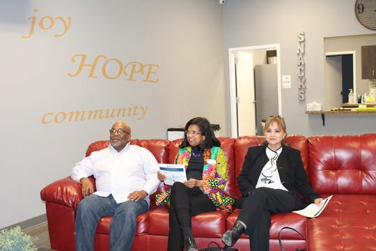Community Partnership's Ozarks Alliance to End Homelessness hosted a panel discussion Tuesday at Eden Village to discuss barriers for minorities experiencing homelessness. Expert speakers included Professor Lyle Foster from Missouri State University; Francine Pratt from Prosper Springfield; and Yolanda Lorge with Groupo Latinoamericano.