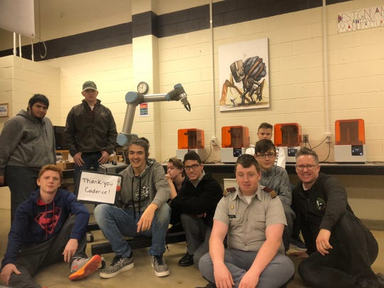 Students at Valley Career and Technical Center in Fishersville at their new Computer Integrated Manufacturing program, which local manufacturer Cadence helped set up.