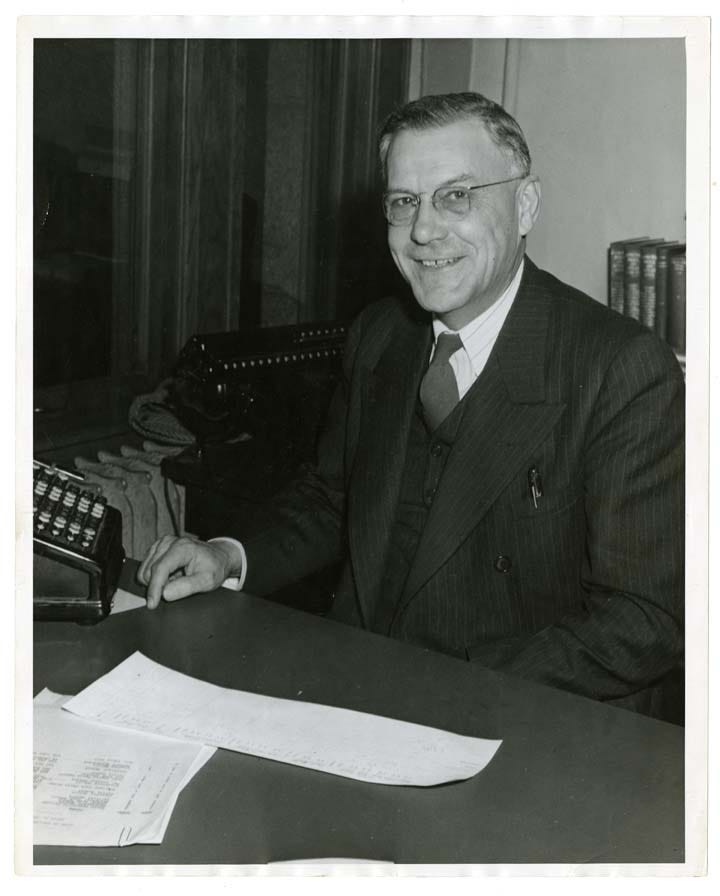 Phil Collignon was the mayor of St. Cloud from 1932-45. He died in office and was the first to lie in state at city hall in 1945.