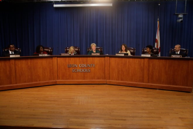 The Leon County School board meets during the Leon County School Board reorganization meeting at the Howell Center Tuesday, Nov. 20, 2018.