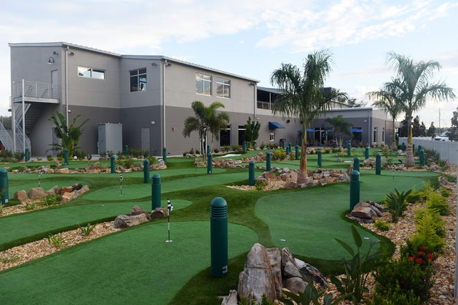 Along with a two-story driving range, BigShots Golf in Vero Beach offers an 18-hole putting course, full-service restaurant, two bars and private event space.