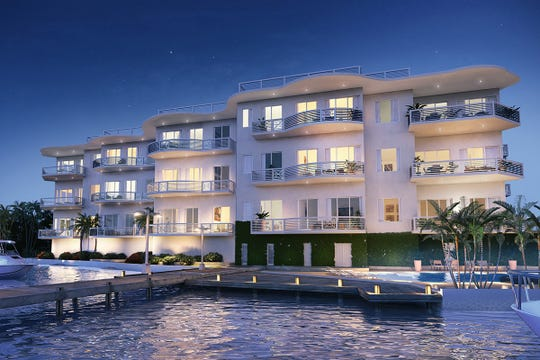 A rendering of River House Stuart shows 15 planned luxury condominiums on the St. Lucie River.