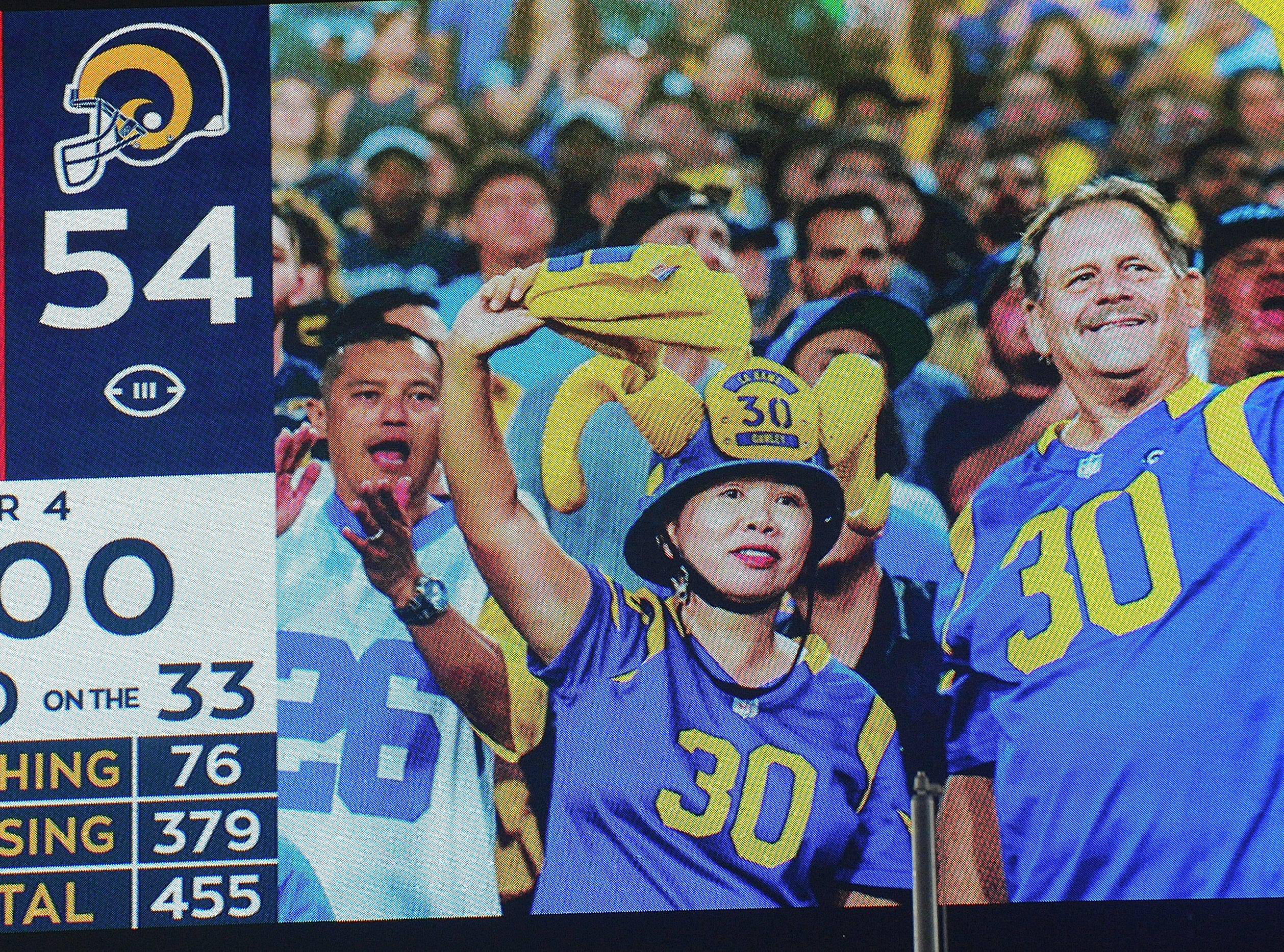 The scoreboard says it all. The Rams won by a score of 54-51 on Monday night. The combined 105 points is the third-highest-scoring NFL game in history and it marked the only time that two teams ever scored more the 50 points in the same game.