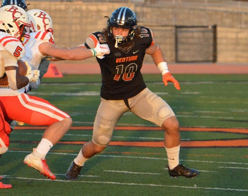 Whether it is at inside linebacker, outside linebacker or defensive end, sophomore Trennan Carlson has come up with big play after big play for the Ventura College football team.