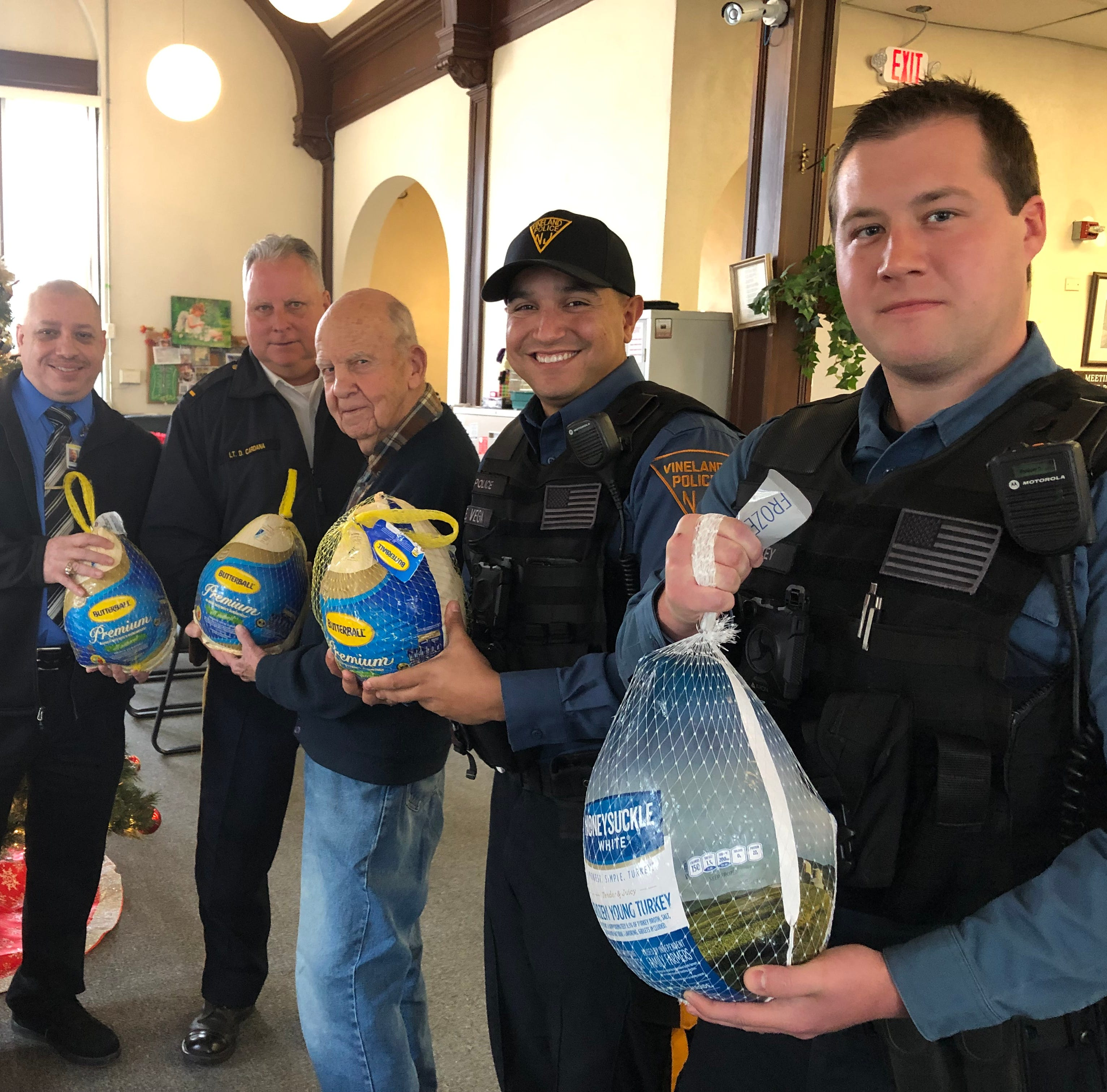 Vineland police deliver Thanksgiving cheer to those in need