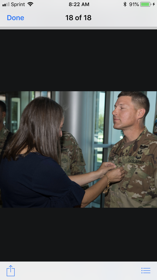 Julie Ryan Pins Star On Her Husbands Uniform At His Promotion To Brigadier General
