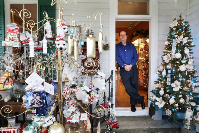 Keith Taylor is co-owner of White Pillars Christmas House in Norwich.