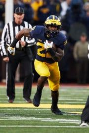 Michigan Wolverines running back Karan Higdon.