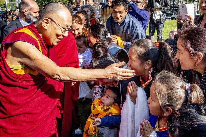 The Dalai Lama in Rotterdam, Netherlands, on Sept. 14, 2018.