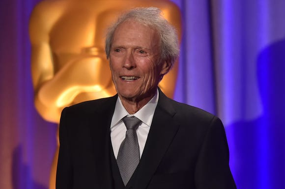 Clint Eastwood, seen here at Sunday's Governors Awards, is all about food and family at Thanksgiving.
