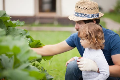 Asking your child to help you with things like baking or gardening helps teach life skills and gives them a sense of worth beyond material things.