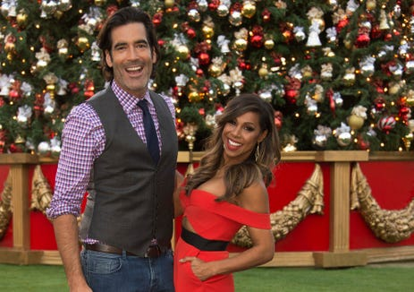 "Lifestyle expert Carter Oosterhouse and interior designer Taniya Nayak are the celebrity judges for ""The Great Christmas Light Fight."""