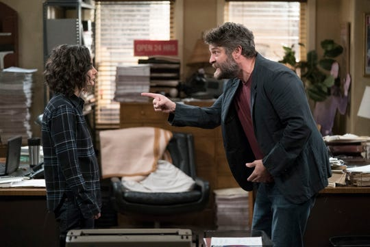 Darlene (Sara Gilbert), left, butts heads frequently with her new boss, Ben (Jay R. Ferguson), in ABC's 'The Conners.'