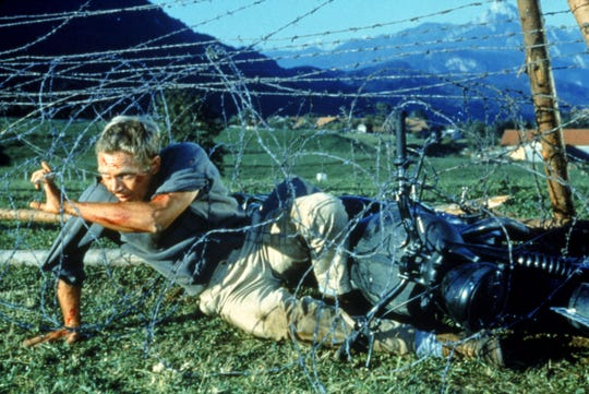 Barbed wire is about the only thing that can contain 'Cooler King' Hilts (Steve McQueen) in 'The Great Escape,' the epitome of the genre.