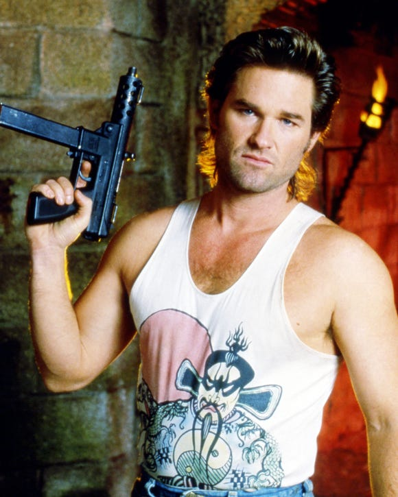 """Kurt Russell starred as unconventional action hero Jack Burton in John Carpenter's 1986 film """"Big Trouble in Little China."""""""