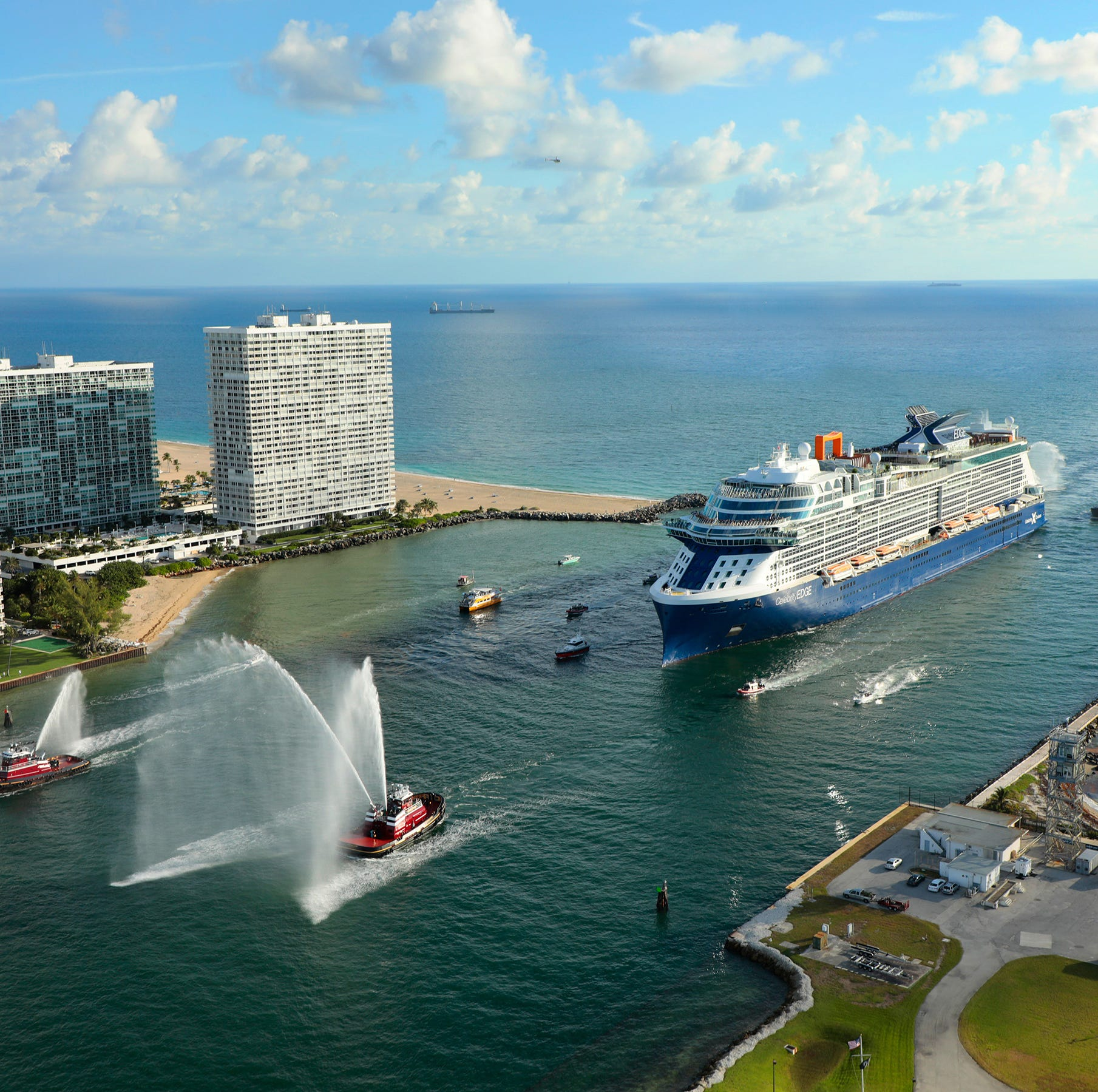 Celebrity Edge will be based at Florida's Port Everglades, which is located in the vicinity of Fort Lauderdale.
