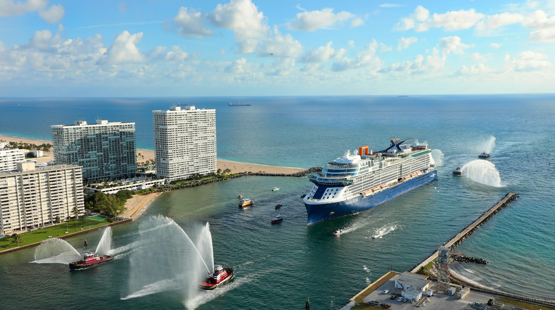 Celebrity Edge: Groundbreaking new cruise ship arrives in USA