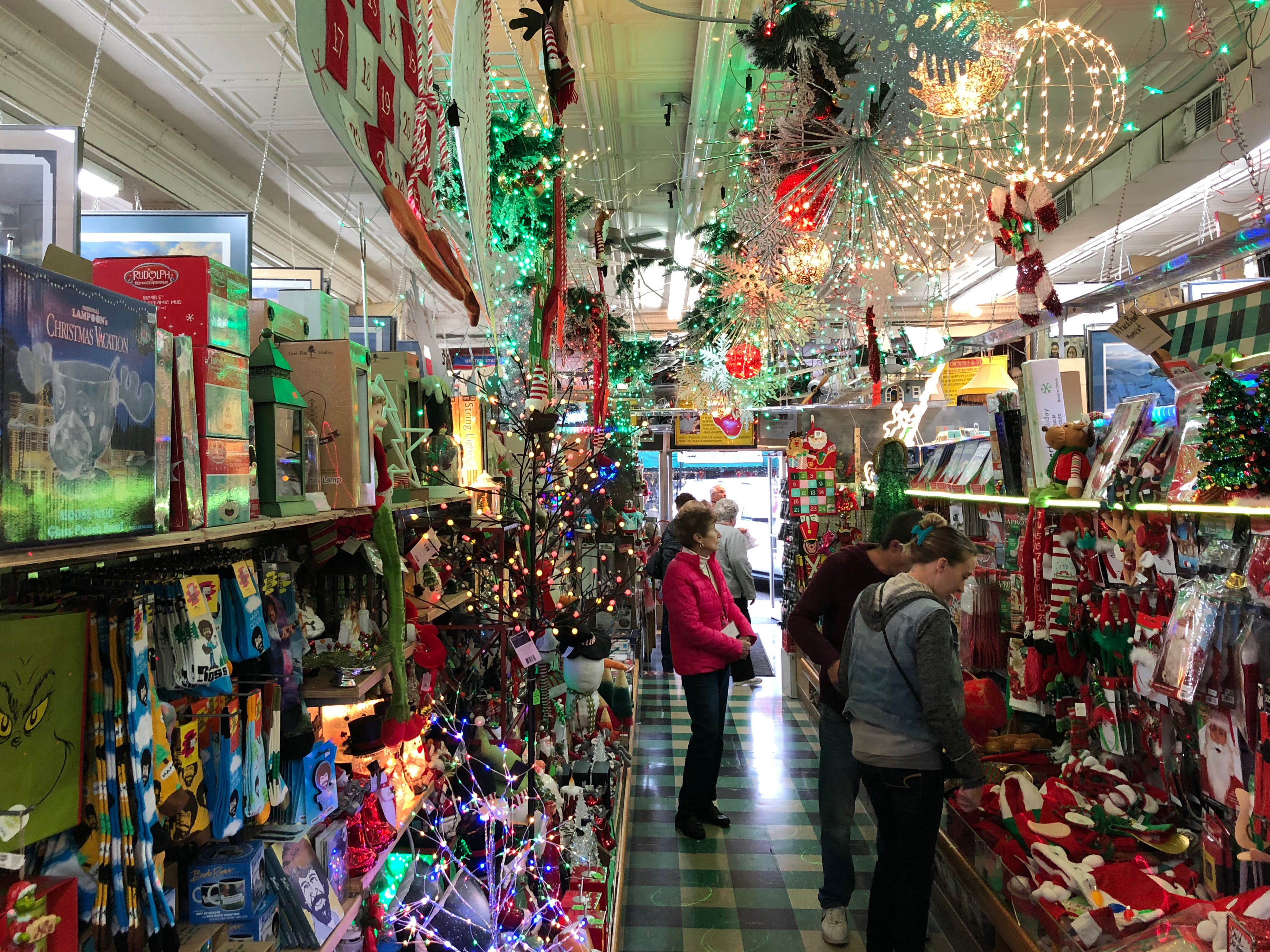 Well-stocked doesn't begin to describe Dick's 5 & 10, one of the country's few remaining variety stores of its kind. Visitors could make a serious dent in their Christmas shopping and delight family and friends with quirky gifts from Dick's.