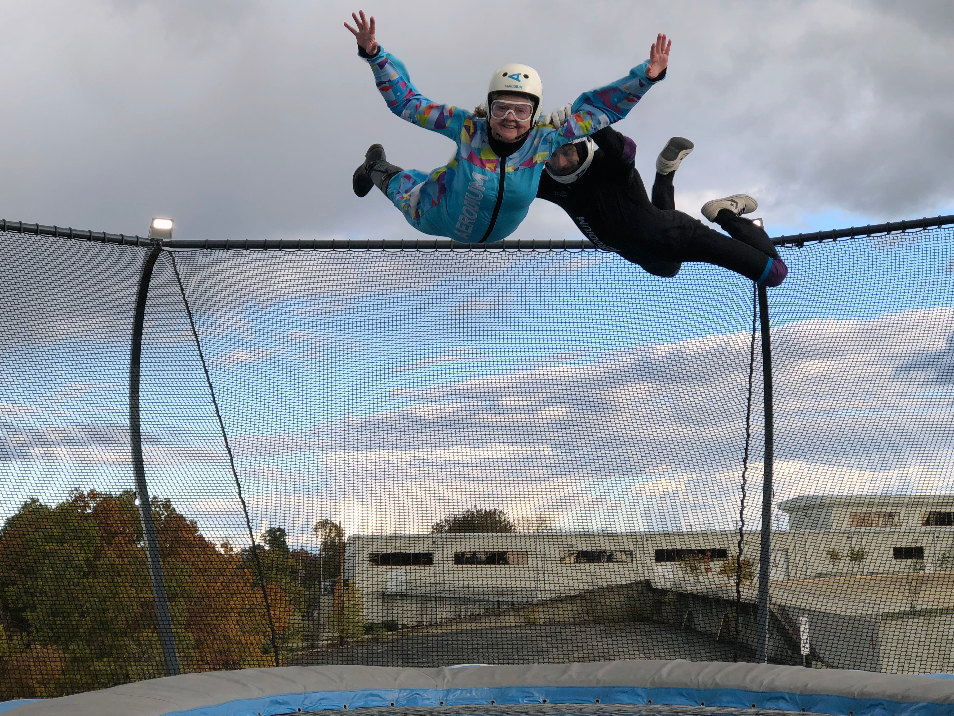 There are a number of wind tunnel attractions, but the Aerodium is the first in the country to be located outdoors.