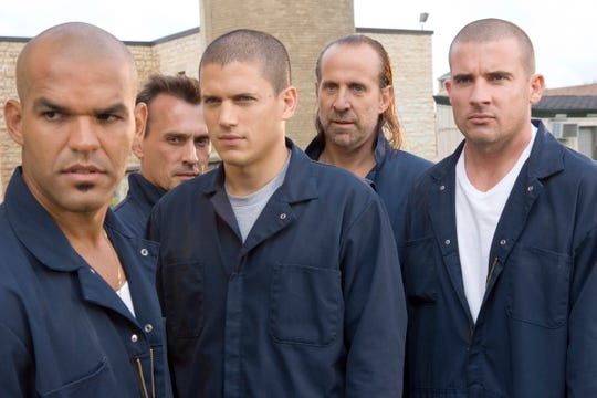 Amaury Nolasco, left, Robert Knepper, Wentworth Miller, Peter Stormare and Dominic Purcell played the escape artists at the center of Fox's 'Prison Break.'