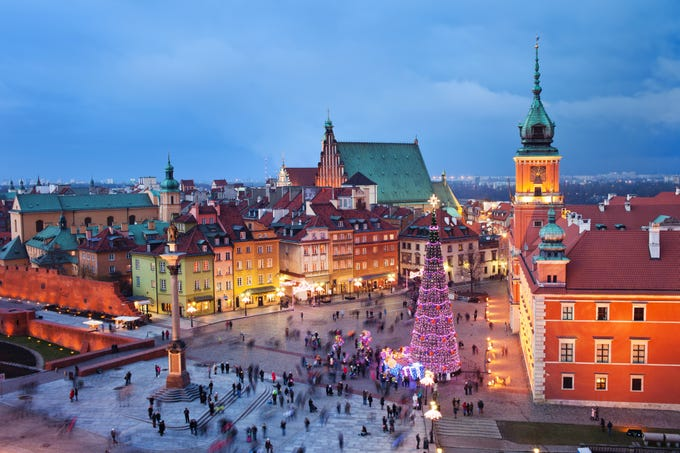 Warsaw, Poland: According to CheapOair, Poland and its capital Warsaw are cheapest to travel to in the winter, with early 2019 prices about $580 roundtrip. Whether you're looking to celebrate the holidays in Europe or experience a world-class European city on the cheap, Warsaw should be on the top of your list. Classic wintertime activities include ice skating in Old Town Square, strolling through the outdoor illumination exhibit, visiting the Royal Garden of Light, and soaking in the outdoor heated pools at Wodny Park.