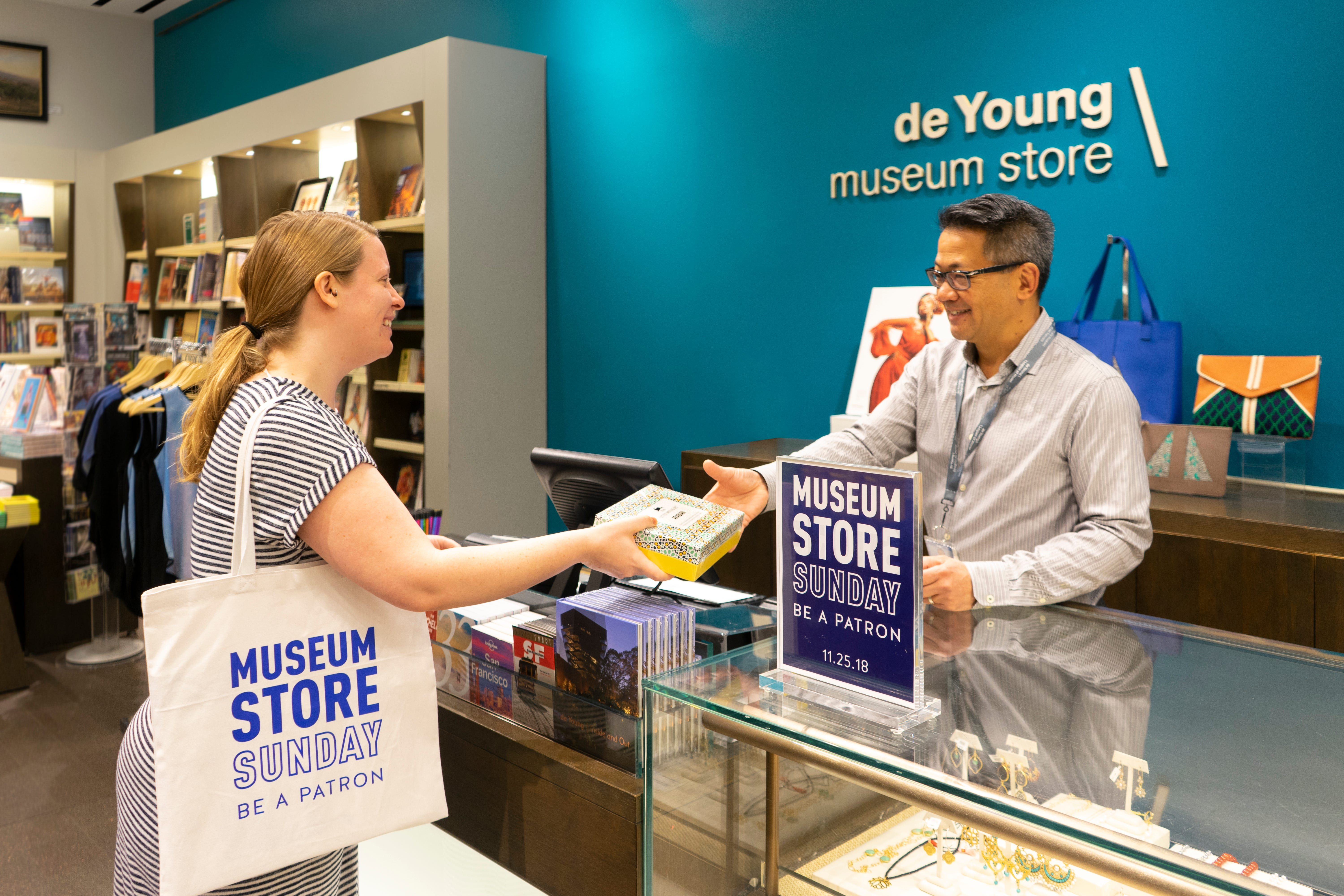 The M. H. de Young Memorial Museum in San Francisco is among cultural institutions around the country participating in Museum Store Sunday, an annual drive to get people to patronize the stores in their local museums. This year's Museum Store Sunday is Nov. 25.