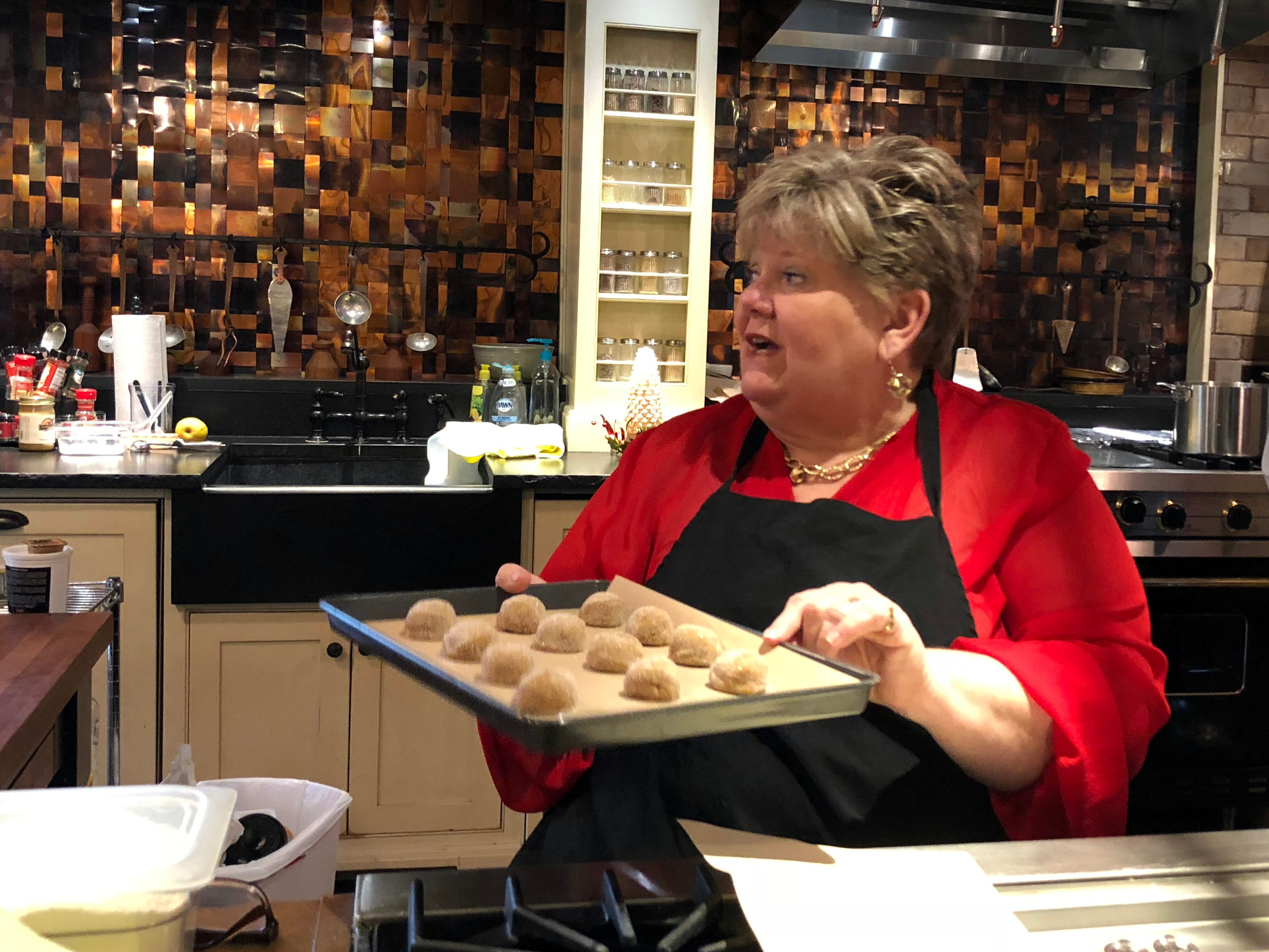 Visitors can even learn how to make their own holiday treats, such as Christmas cookies and decadent hot chocolate, at the park's Culinary Craft School.