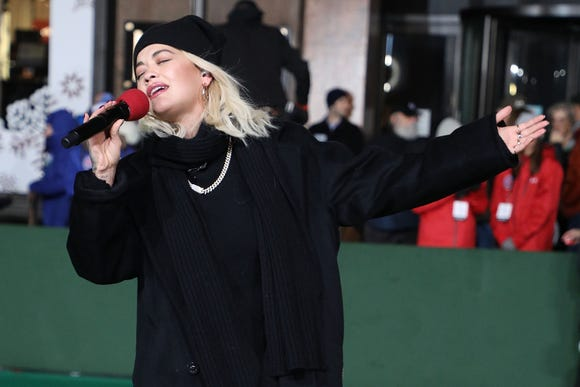 NEW YORK, NY - NOVEMBER 20:  Rita Ora performs during Day 2 of the 2018 Macy's Thanksgiving Day Parade Rehearsals at Macy's Herald Square on November 20, 2018 in New York City.  (Photo by Taylor Hill/WireImage) ORG XMIT: 775259764 ORIG FILE ID: 1064078574