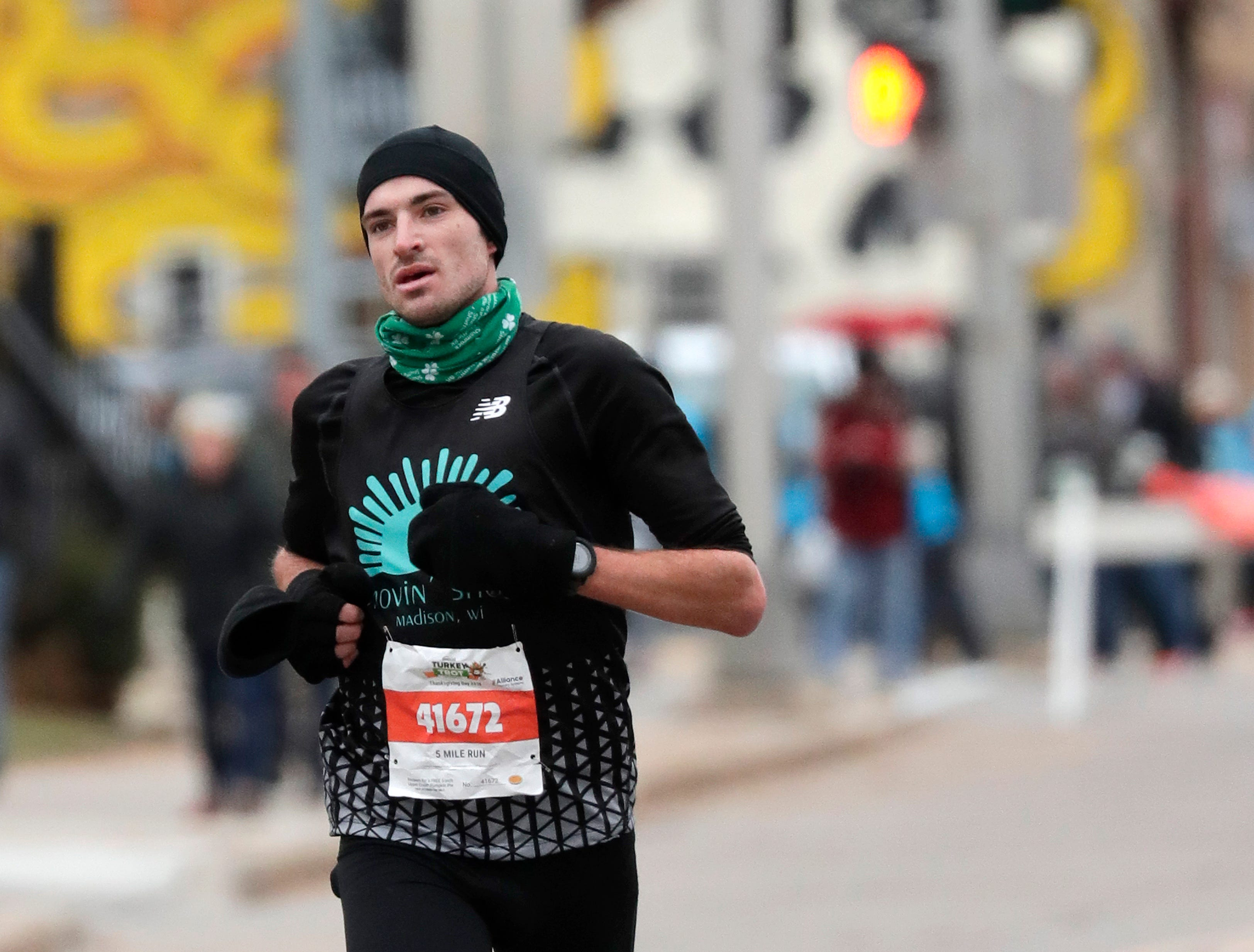 Alexander Rink of Chilton wins the 11th Annual Festival Foods Turkey Trot Thursday, November 22, 2018, in Appleton, Wis. 