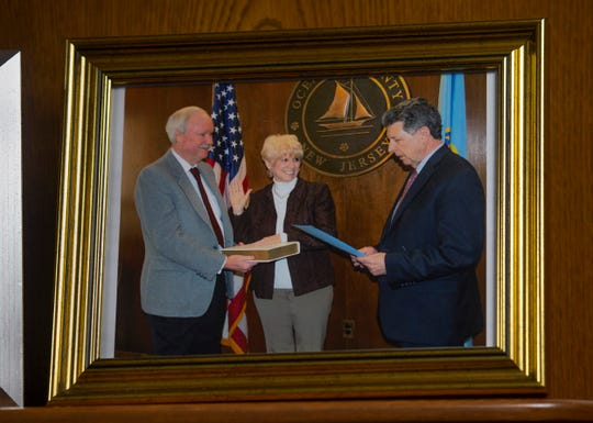 A photo of Virginia Haines being sworn in. Virginia Haines is expected to become first woman to lead Ocean County's freeholders in 40 years.