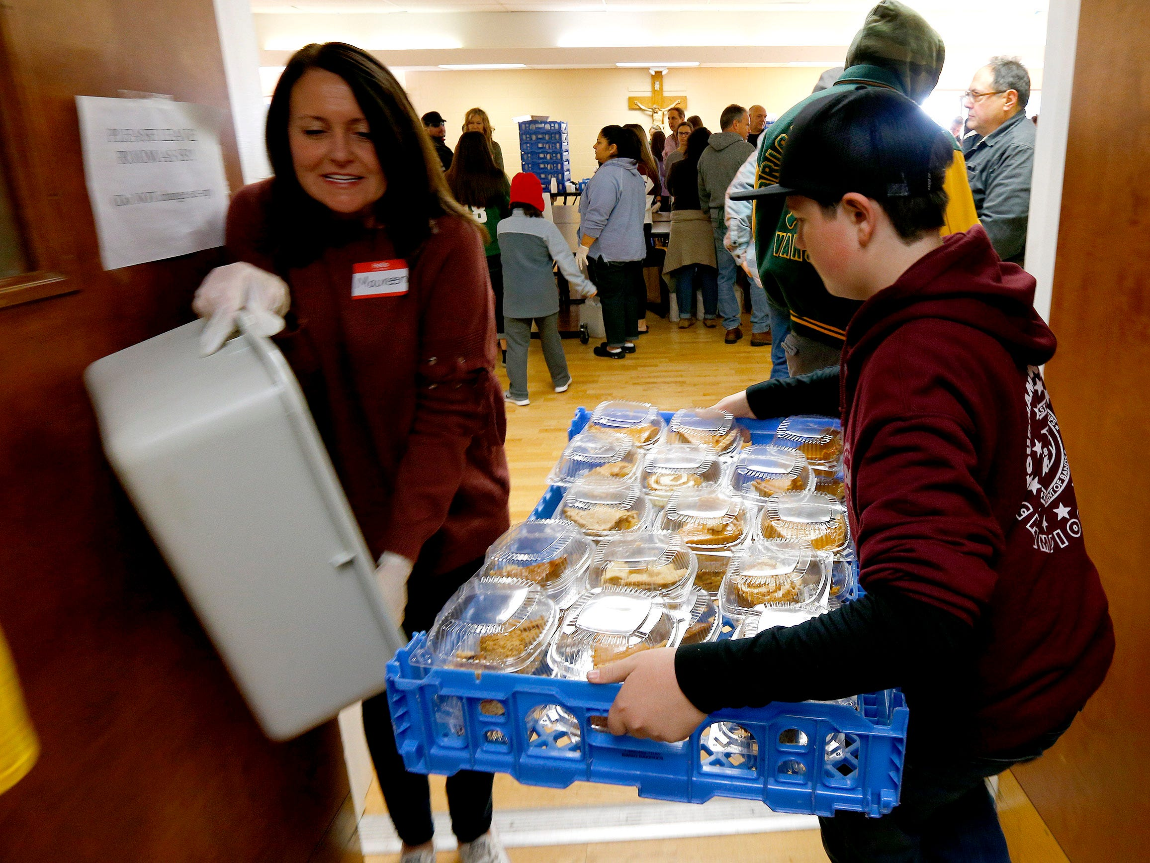 Volunteers at The Church of the Epiphany in Brick prepare and deliver meals to over 1,200 people in Monmouth and Ocean counties on Thanksgiving Day, November 22, 2018.