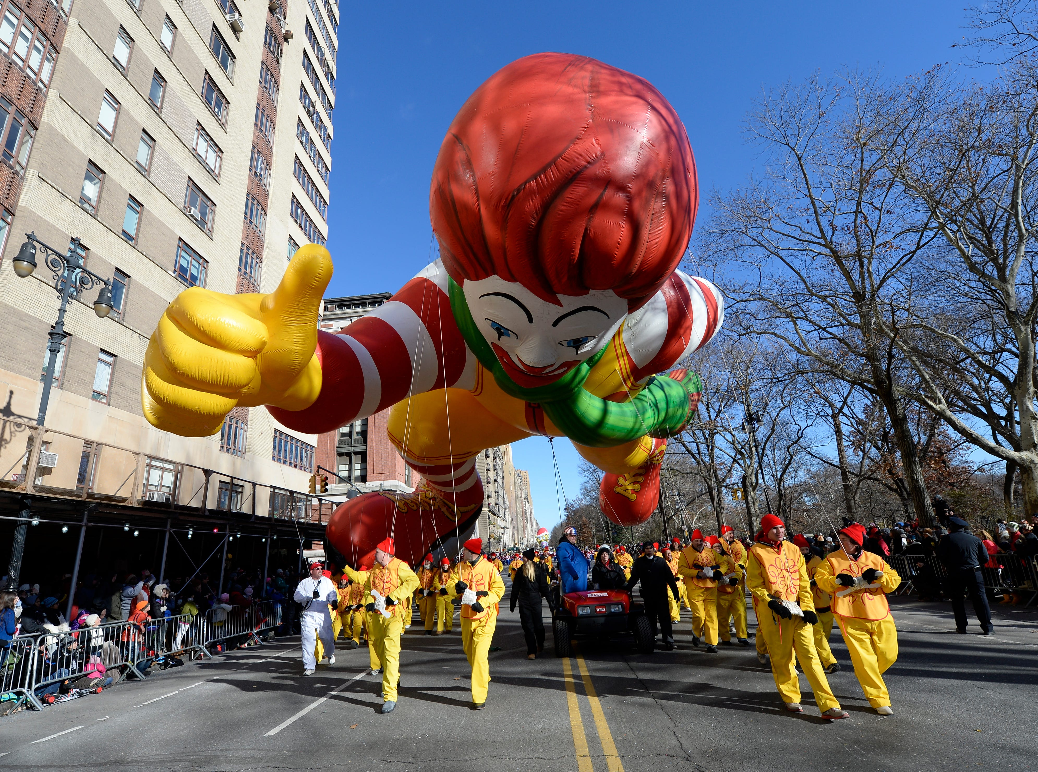 11/28/13 10:59:11 AM -- New York, NY, U.S.A  -- 87th Annual Macy's Thanksgiving Day Parade -- Ronald McDonald Photo by Robert Deutsch, USA TODAY Staff