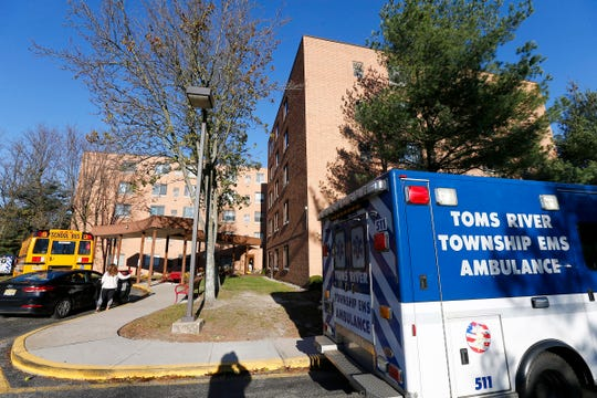 The Highland Plaza apartment complex in Toms River was the scene of a fire Thanksgiving morning, November 22, 2018, forcing the evacuation of some residents.