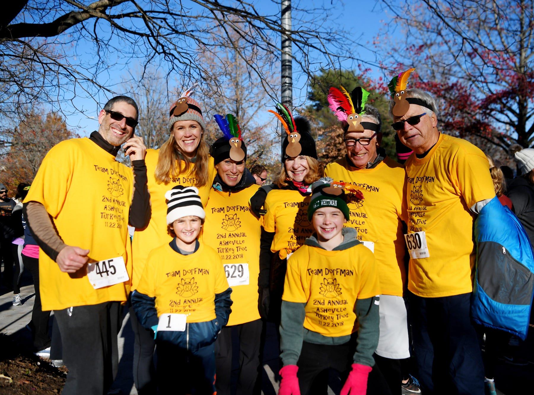 About 2,200 runners participated in the 18th annual Turkey Trot 5K in Asheville on Thanksgiving Day, No. 22, 2018.