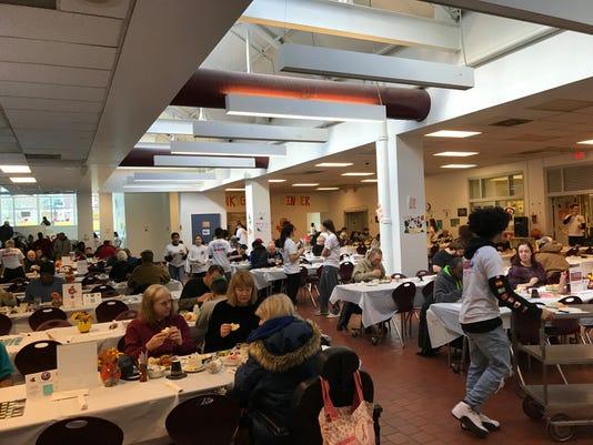 The 23rd Binghamton High School Thanksgiving dinner.