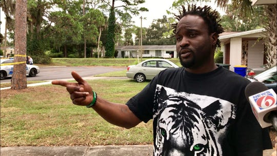 Jonathan Cannon called 911 after a stabbing victim collapsed in his driveway Thursday morning in Rockledge.