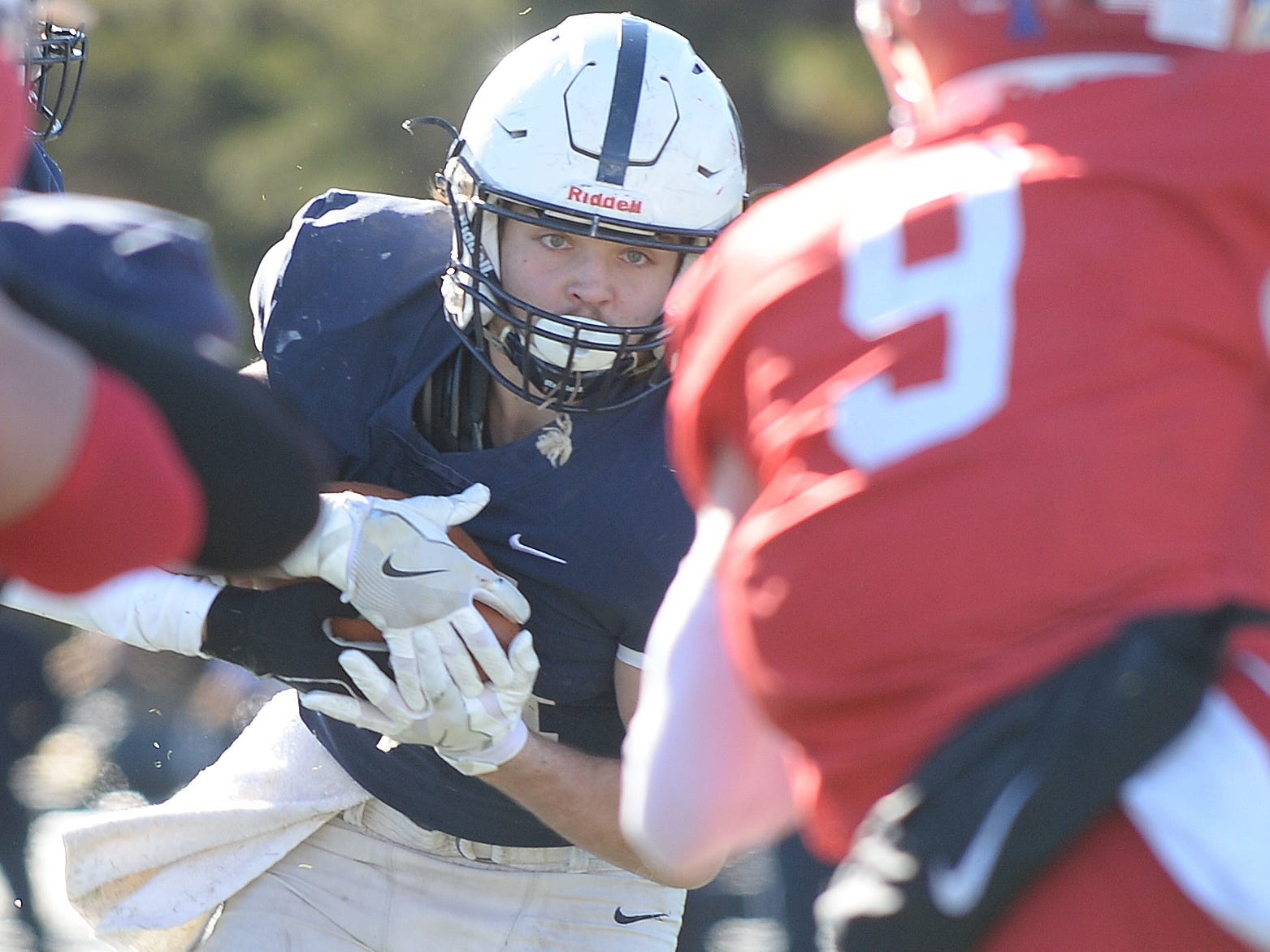 Shawnee's Joey Dalsey carries the ball during the Thanksgiving Day football game against Lenape at Shawnee High School, Thursday, Nov. 22, 2018.