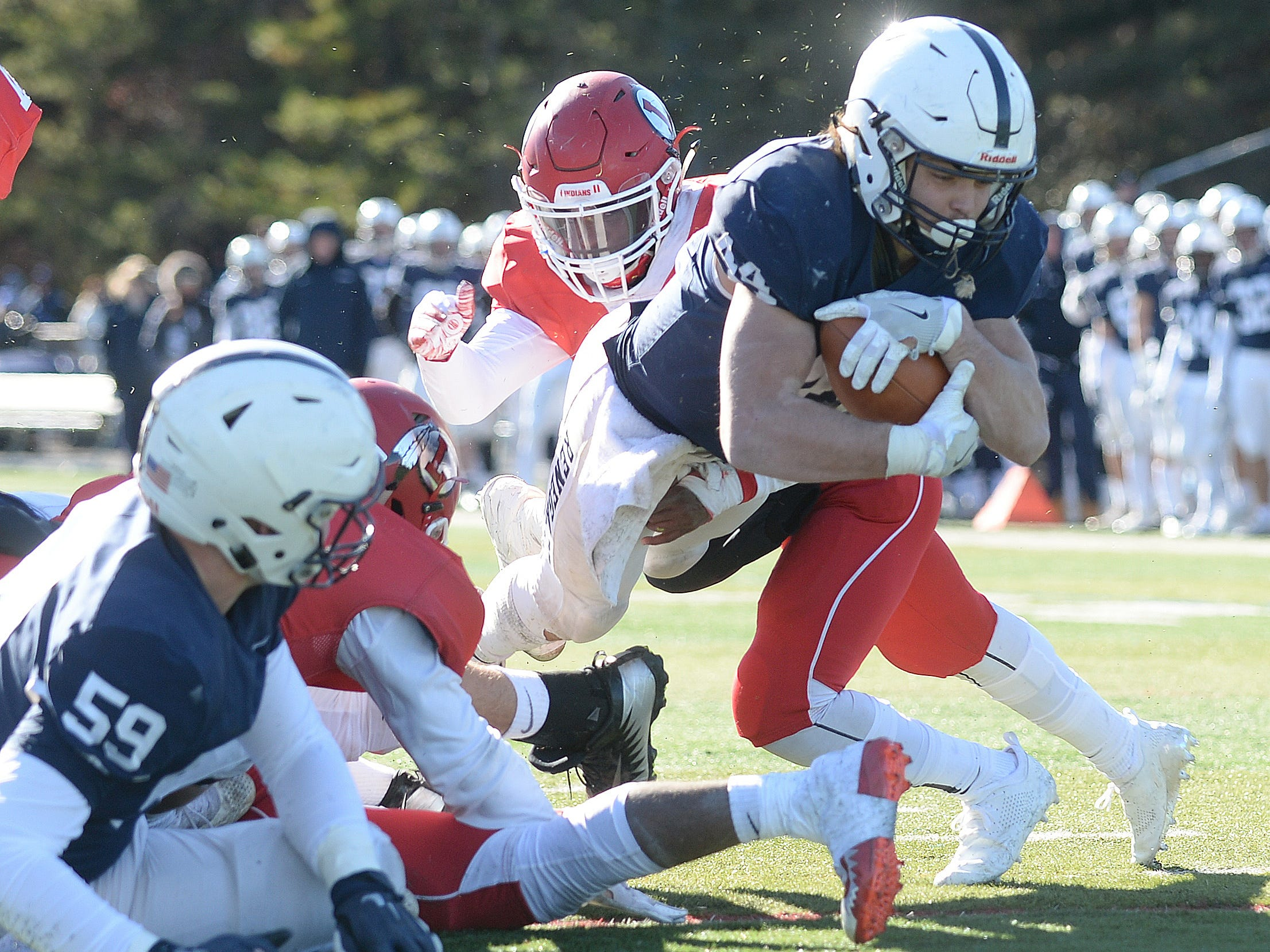 Shawnee's Joey Dalsey carries the ball for a touchdown during the Thanksgiving Day football game against Lenape at Shawnee High School, Thursday, Nov. 22, 2018.