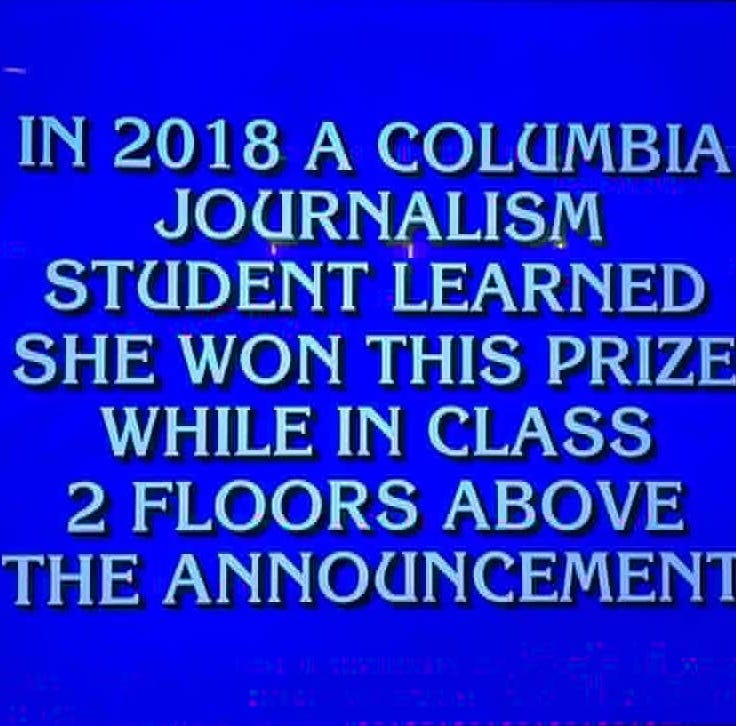 Former Enquirer intern featured in clue on Jeopardy