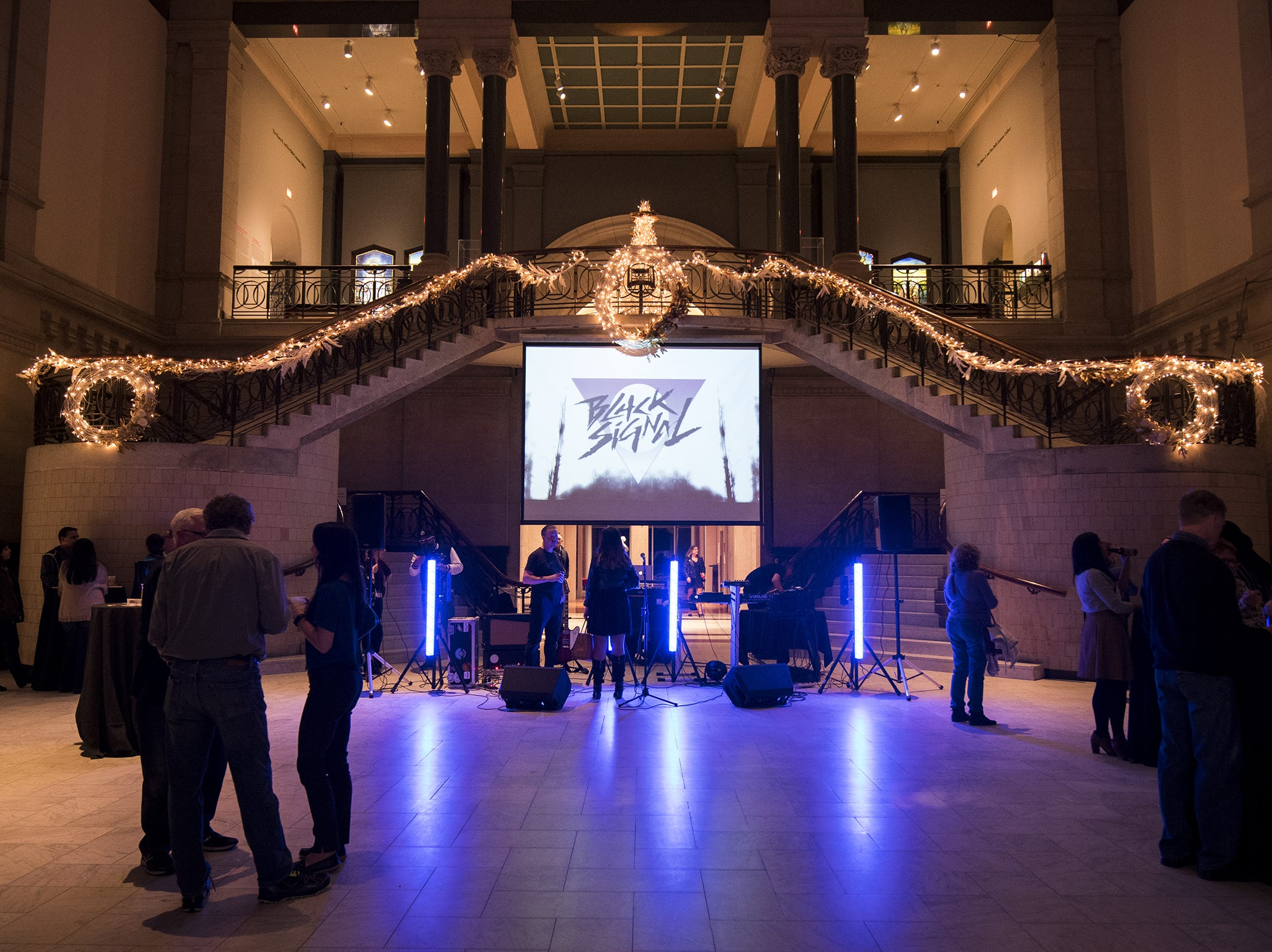 The band Black Signal sets up for their set at Art After Dark: Confess Yourself at the Cincinnati Art Museum Wednesday, November 21, 2018 in Cincinnati, Ohio. This is the last Art After Dark until the new year.