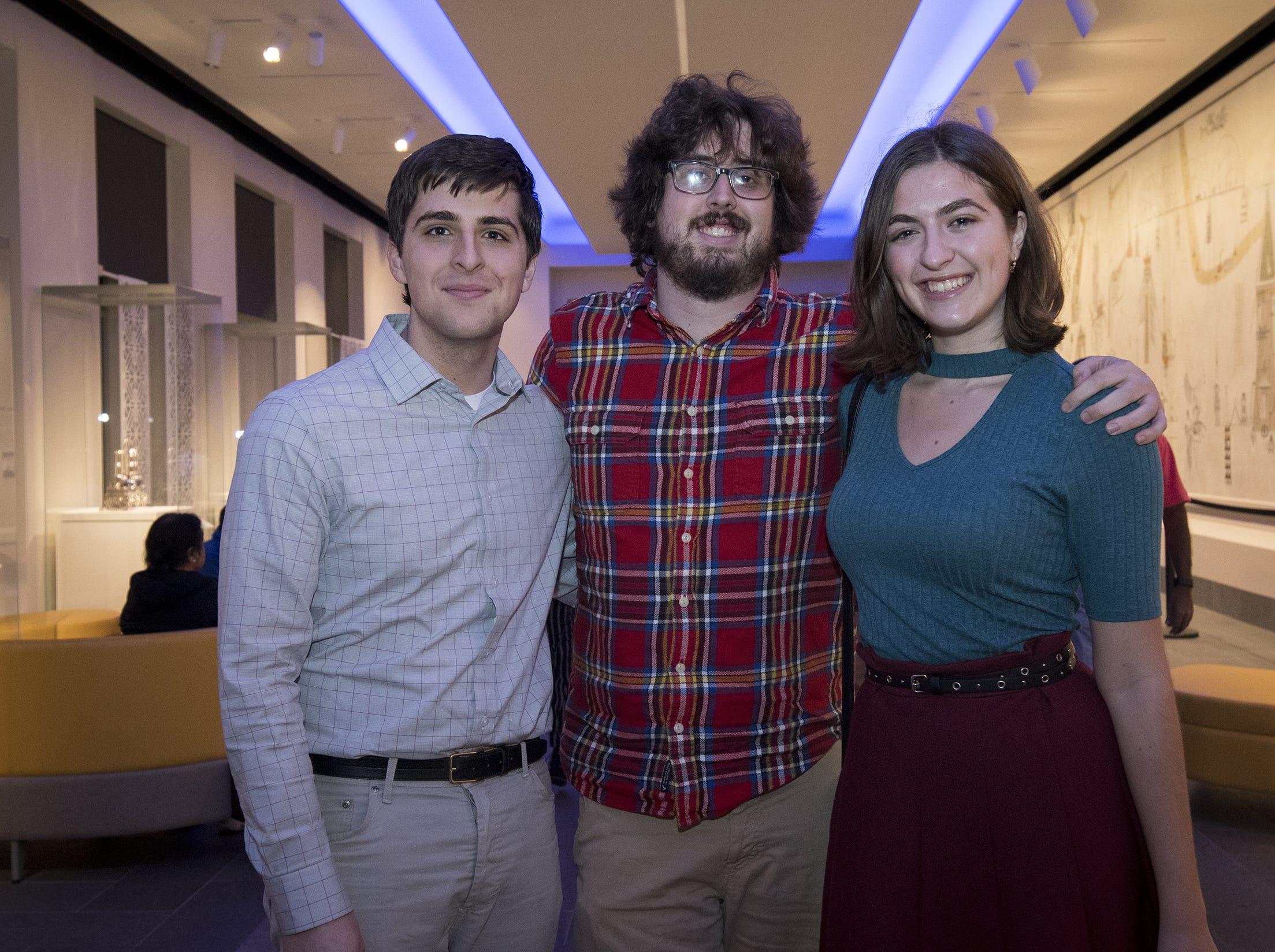 Weston Rainer, Alex McCartney and Ivanka Rainer attend Art After Dark at the Cincinnati Art Museum Wednesday, November 21, 2018 in Cincinnati, Ohio.