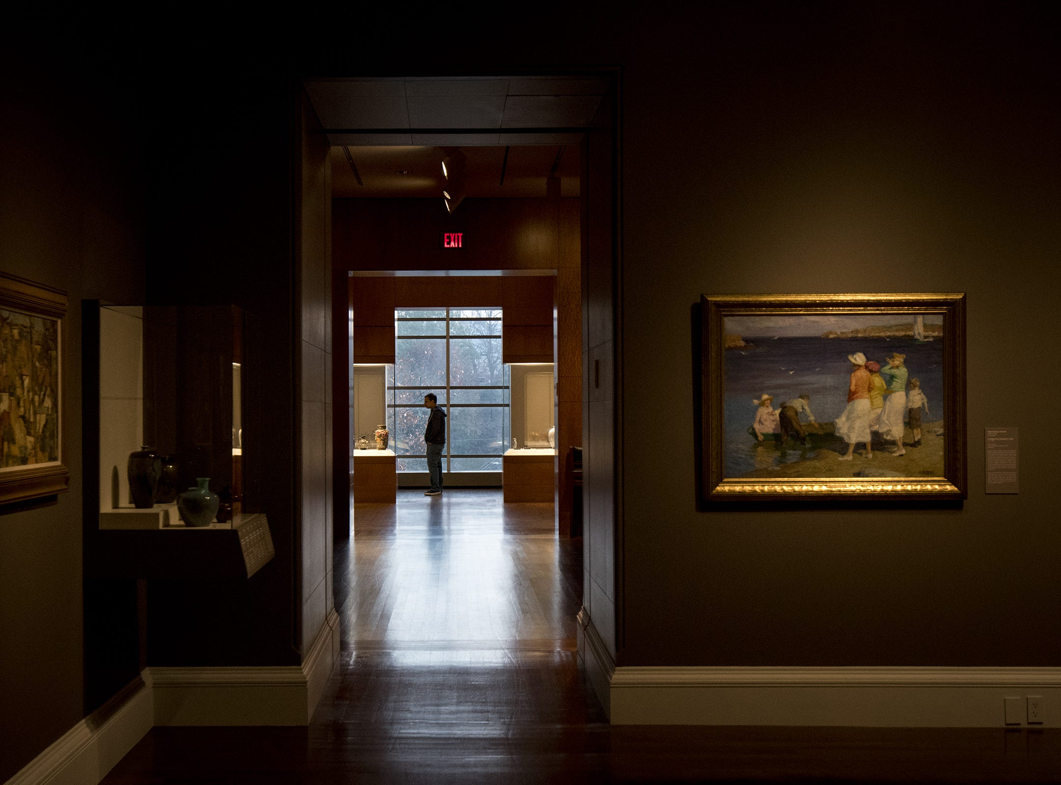 A guest checks out the collections at the Cincinnati Art Museum at the start of Art After Dark: Confess Yourself Wednesday, November 21, 2018 in Cincinnati, Ohio.