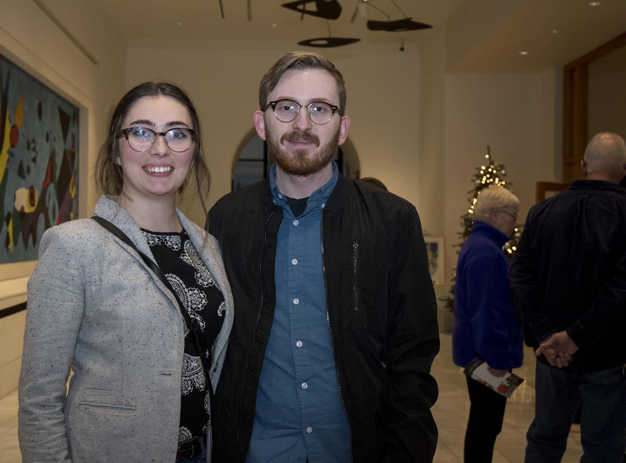 Nicole Braun and Chris Larmouth of Covington attend Art After Dark at the Cincinnati Art Museum Wednesday, November 21, 2018 in Cincinnati, Ohio.