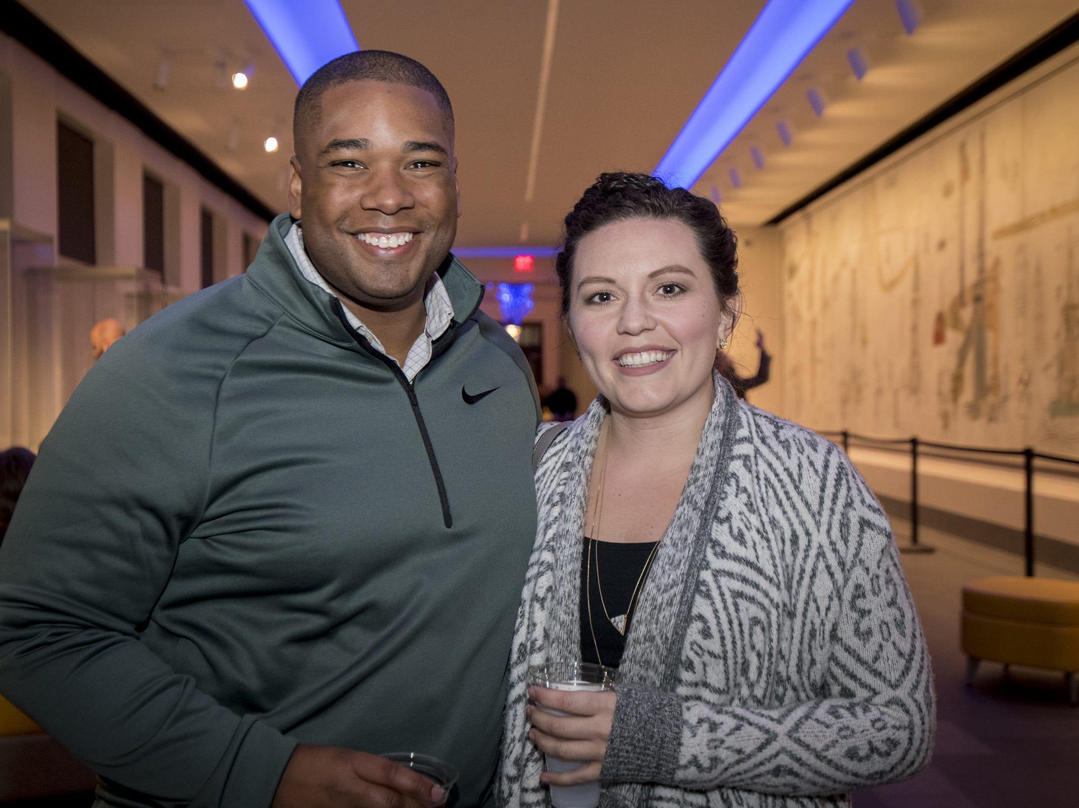 Micah Dickson and Heather Knox attend Art After Dark at the Cincinnati Art Museum Wednesday, November 21, 2018 in Cincinnati, Ohio.