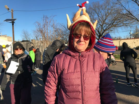 Katrel Perry of Woodbridge participated in the Somerville Turkey Trot with 17 other members of her family.