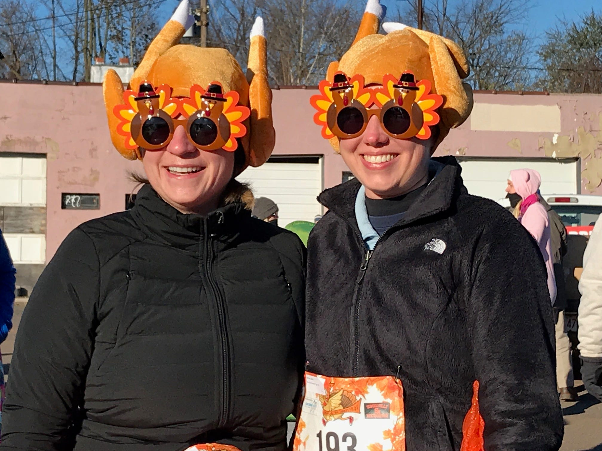 Kelsey Speal and Diana Farmen, both of Basking Ridge, participated in the 3rd annual Somerville Turkey Trot on Thanksgiving Day.