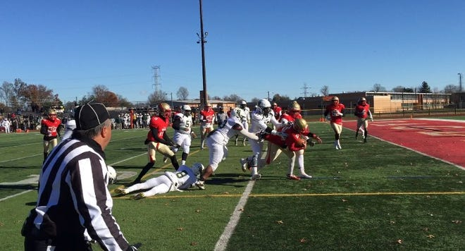 Edison defeated J.P. Stevens on Thanksgiving Day.