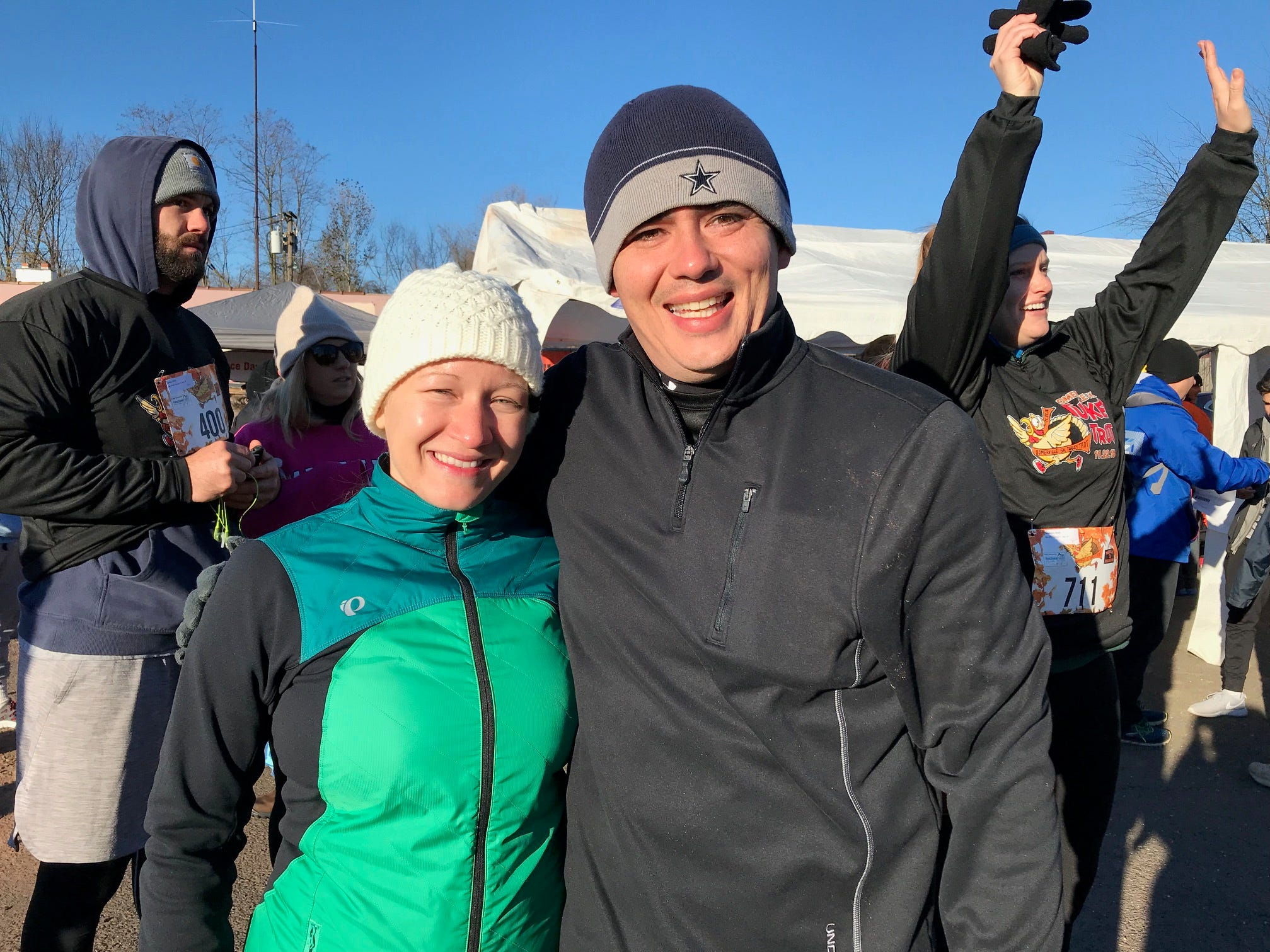 Nadine Vazquez and her husband, Jose, participated in the Somerville 5K Turkey Trot on Thanksgiving Day.