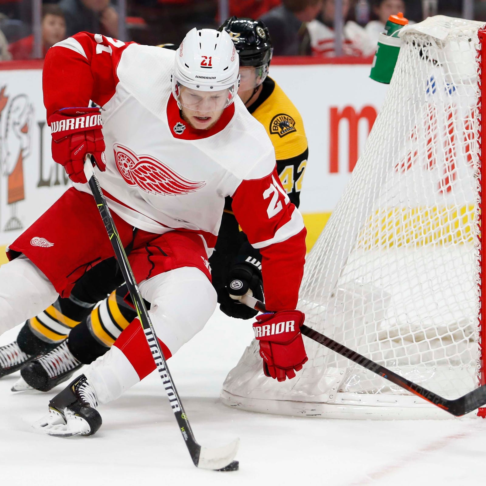 Detroit Red Wings' Dennis Cholowski excels in rebuild and ... sneakers?